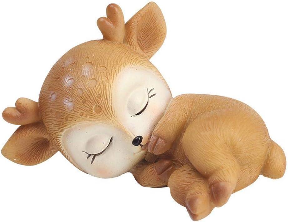 Ardest Toy Figure Deer Figurine Baby Shower Cake Topper Fawn Keepsake for Baby Nursery Decor Book Shelf Living Room Mantle Piano Decoration Doe Table Centerpiece