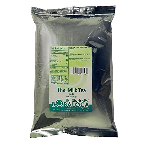 Bubble Boba Thai Tea Powder Mix, 4 lbs (1.81 kg) bag by BobaStore
