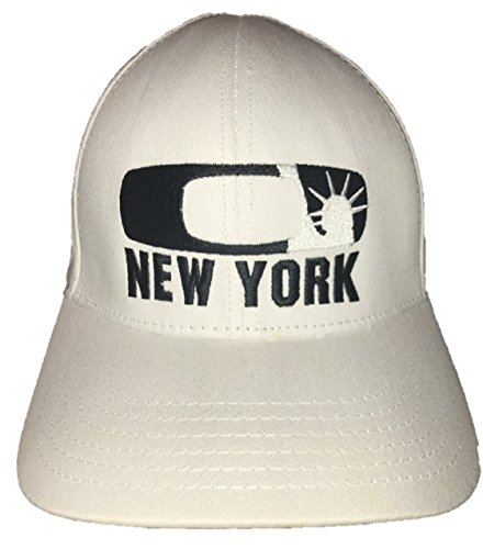 Oakley Men's NYC New York Statue of Liberty O-Flex Fitted Hat Cap - White - Oakley Nyc