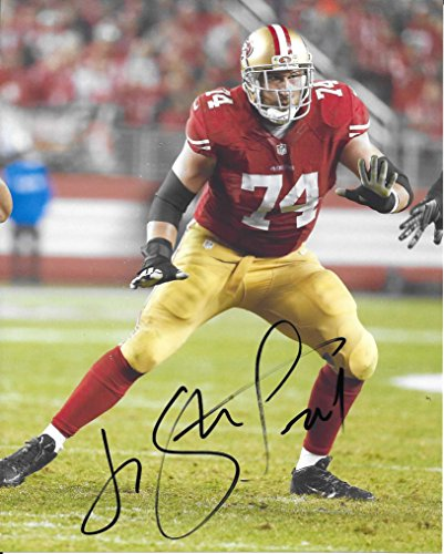- Joe staley, San Francisco 49ers, Signed, Autographed, 8X10 Photo, a COA with the Proof Photo of Joe Signing Will Be Included