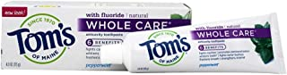 product image for Tom's of Maine Peppermint Whole Care Anticavity Toothpaste, 4.0 Oz