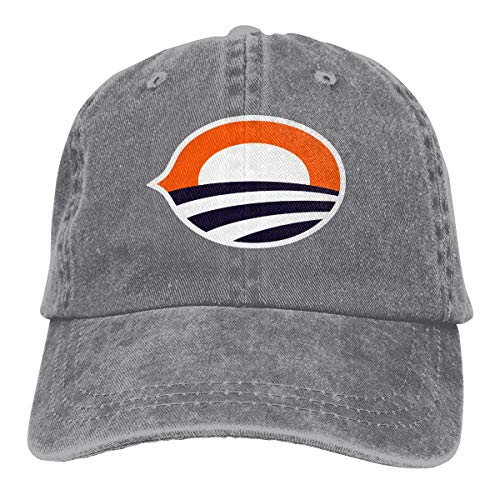 Chicago Football with 44th President Bama Hip Hop Baseball Cap Adjustable Unisex Gray