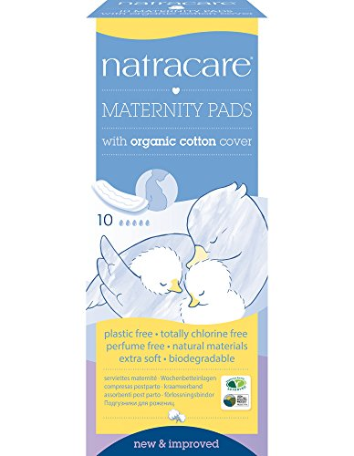Natracare Organic Maternity Pads - Pack of 10 Pads - New Mother Natural Maternity Pads