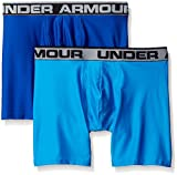 "Under Armour Men's Original Series 6"" Boxerjock 2-Pack, Royal/Brilliant Blue, Large"
