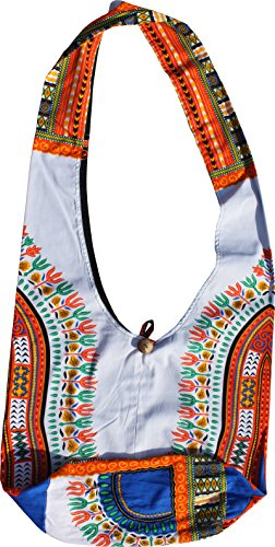 RaanPahMuang White Reversable Monks Shoulder Green Dashiki Strap Dark Green Bag Long Pattern rrqxpwva