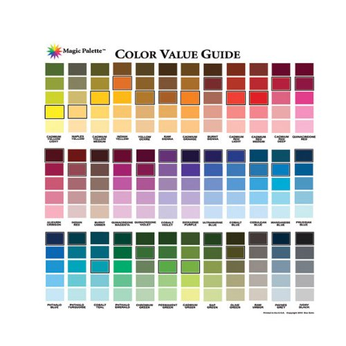 Magic Palette Artists Color Value Guide (Magic Color Wheel)