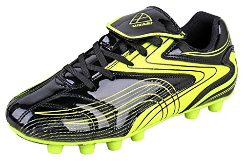 Vizari Youth/Jr Striker FG Soccer Cleats | Soccer Cleats Boys | Kids Soccer Cleats | Outoor Soccer Shoes | Black/Yellow 1