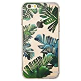 iPhone 6 / 6S Case, OFFLY Transparent Creative Pattern Soft TPU Thicker Protective Case for Apple iPhone 6 / 6S - Hawaii Tropical Plants