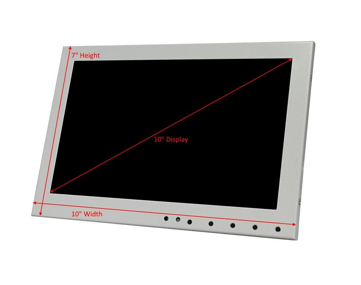Kenuco White 10.1'' LED Monitor with HDMI/VGA/Composite/RCA Input by Kenuco (Image #6)