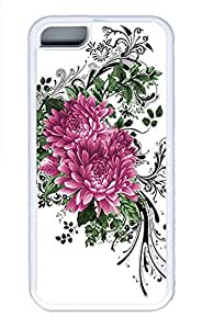 iPhone 5c Cases - Summer Unique Wholesale pc White Cases Personalized Design The Beauty Of The Two Red Flowers