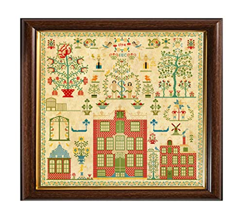 Antique 1794 Dutch Sampler Reproduction Cross Stitch Counted Chart PDF on CD Unique Easy to Make Vintage Netherlands Holland from QualityPattern