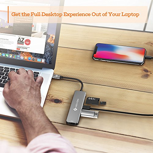 NOVOO USB C Hub 6 in 1 with HDMI 4K Adapter, USB C PD Power Delivery Charging Port, 2 USB 3.0 Ports, 1 SD Memory Port, 1 MicroSD Card Reader Compatible with MacBook Pro 2017/2016, HW MateBook and More by Novoo (Image #6)