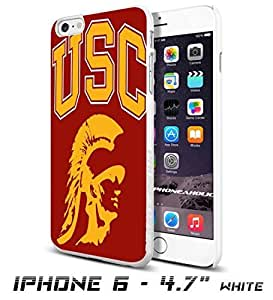 NCAA USC logo , Cool iPhone 6 - 4.7 Inch Smartphone Case Cover Collector iphone TPU Rubber Case White [By PhoneAholic] by mcsharks