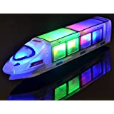 WolVol (New Version) Beautiful 3D Lightning Electric Train Toy For Kids with Music, goes around and changes directions on contact
