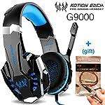 Kotion Each G9000 Fone de ouvido Gamer Headset Reduz Ruídos Supra-Auricular Microfone Luz LED PC PS4 Xbox Laptop Nintendo...