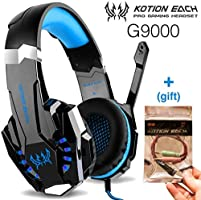 Kotion Each G9000 Fone de ouvido Gamer Headset Reduz Ruídos Supra-Auricular Microfone Luz LED PC PS4 Xbox Laptop...