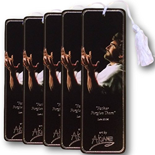 Deluxe 5 Count Bookmark Set With Jesus Featured As