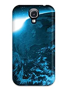 New Premium Flip Case Cover Sunrise Over Planet Skin Case For Galaxy S4