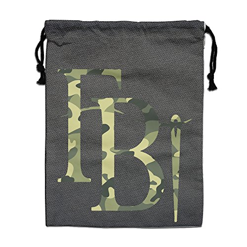 Price comparison product image Reusable Fashion Cool Camouflage FBI Logo Bag Grocery Backpack White One Size