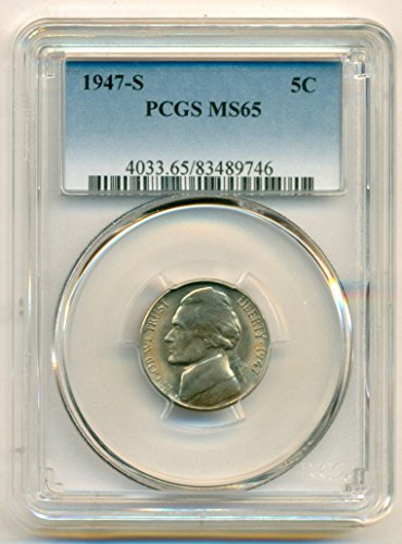 1947 S Jefferson Nickel MS65 PCGS