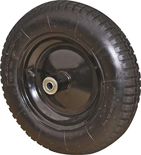 Rocky Mountain Goods Replacement Wheelbarrow Wheel Air Filled 13''- For 4 cubic ft. wheelbarrow wheels including Jackson, True Temper, Ames, Ace - Tread Grip Pattern by Rocky Mountain Radar