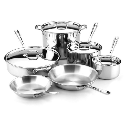 All Clad 501853 Gourmet Stainless Steel 10 Piece Cookware Set