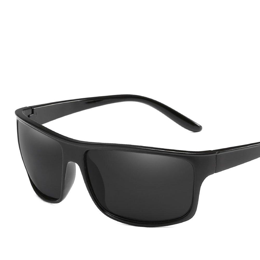 URYY Mens Rectangular Frame Polarized Sunglasses UV Protection Sun Glasses for Outdoor Driving Fishing