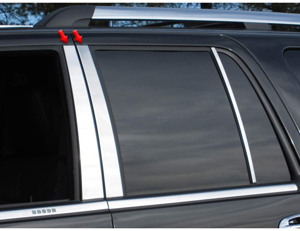 Works with 2002-2010 Ford Explorer with Keypad 4PC Stainless Steel Chrome Pillar Post Made in USA