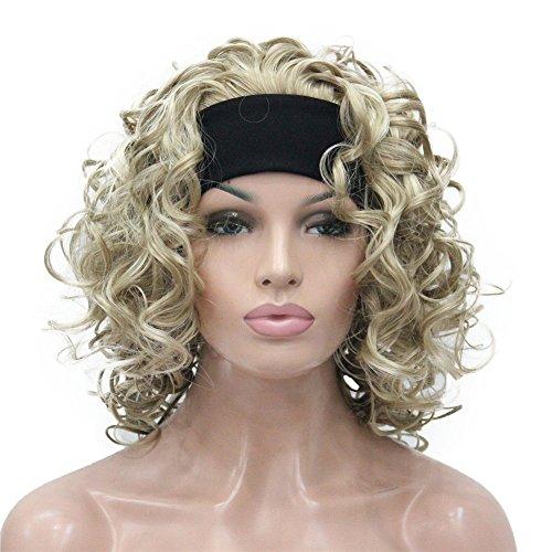 igs Women's Wig 3/4 Half Head Wig with Black Headband(24-613) (Human Hair Headband Wigs)