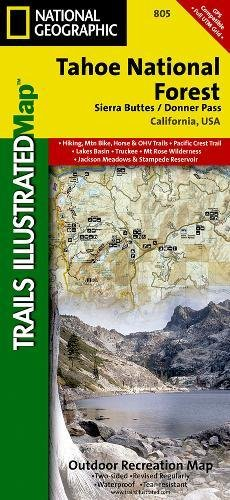 Forest Maps - Tahoe National Forest East [Sierra Buttes, Donner Pass] (National Geographic Trails Illustrated Map)