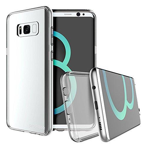Prodigee [Scene] Samsung Galaxy S8 PLUS Case caso caja Carcasa Funda cubierta envoltura cajas del teléfono, Clear Transparent Cell phone cover Slim Thin Dual Layer Super Protective fashionable design