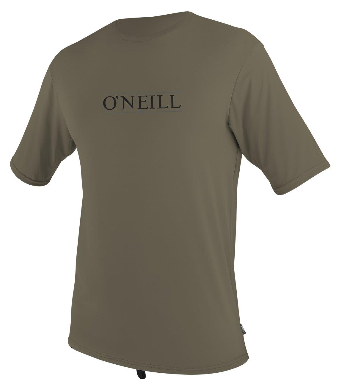 O'Neill Men's Premium Short Sleeve Rash Tee, Khaki - LG, Khaki Premium, Large