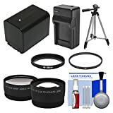 Essentials Bundle for Sony Handycam HDR-PJ540, HDR-PJ670 & HDR-PJ810 Camcorders with NP-FV70 Battery & Charger + Tripod + Filter + Tele/Wide Lens Kit