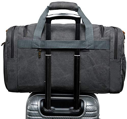 BLUBOON Canvas Duffel Bag Vintage Weekender Overnight Bag Travel Tote Luggage Sports Duffle
