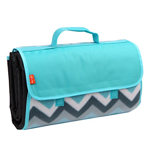 yodo-outdoor-water-resistant-picnic-blanket-tote-blue-chevron