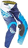 Fly Racing Unisex-Adult Kinetic Vector Pants (Blue/White/Navy, Size 24)