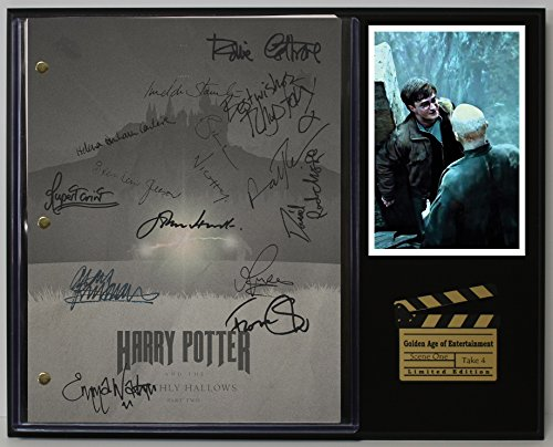 "Harry Potter The Deathly Hallows Part 2 Limited Edition Reproduction Movie Script Cinema Display""C3"""