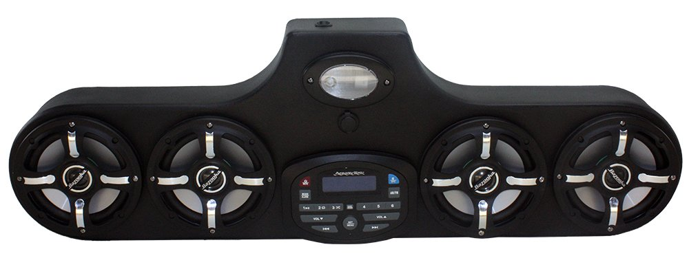 Froghead Inustries AMPHIB554CLE Stereo for Kubota RTV 1120/900 w/ LED Speakers, AM/FM, Bluetooth and USB Charging