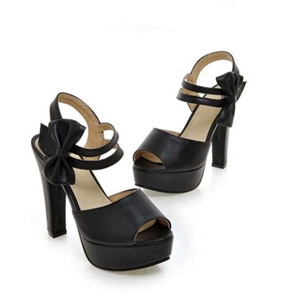 MYI Frauen PU Komfort High Heels Heels Heels Chunky Heel Casual Sommer Beige Schwarz Rosa Lila Größe 34-39 b88fc3