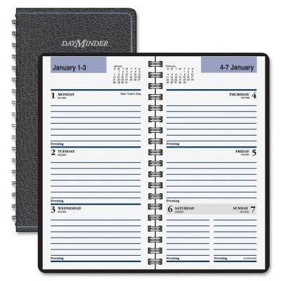 """Weekly Appt Book,Jan-Dec,2PPW,Wirebound,3-1/4""""x6-1/4"""",BK, Sold as 1 each"""