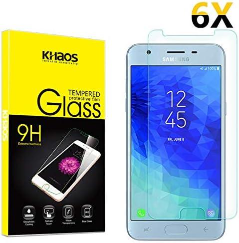 J3 Star for Samsung Galaxy J3 Achieve 2X Nakedcellphone 9H Hard Clear Screen Protector Guard J3 V 2018 Galaxy J3 Achieve//Star//J3V//2018 Tempered Glass Crack Saver