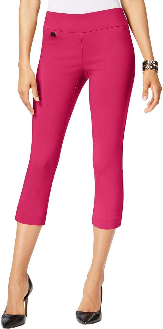 In Regular and Petite Blue Alfani Tummy-Control Pull-On Capri Pants