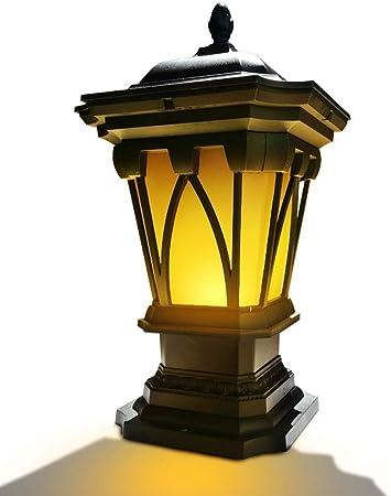 Dicai Luz Exterior Victoriana Farol Tradicional Decoración de jardín Poste Iluminación de Pedestal Clasificación IP55 Exterior for Jardines Patio Jardín Pagoda Lámpara de Pilar (tamaño : M): Amazon.es: Hogar