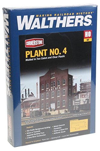 Walthers Ho Scale Cornerstone Background (Walthers Cornerstone Series Kit HO Scale Plant No. 4 Background Building)