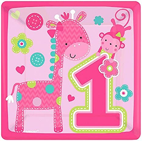 Amscan One Wild Girl 1st Birthday Value Pack Foil Swirl Decorations Small,