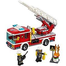 Coche de bomberos con escalera 60107de LEGO city, juguete genial para niños