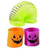 1.4'' Halloween Jack-O-Lantern Spring Coils (48 Pieces)