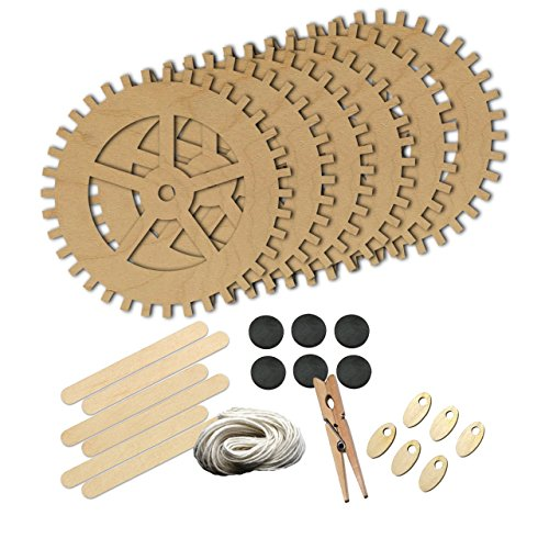 [Largetooth Gear Steampunk Style 1465 , Wood Shape Craft Kit, Kids Project Idea, Great for Party, School and] (Steampunk Decorations)