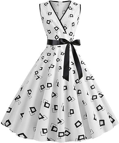 Likezz Woman Retro Dresses Summer Rockabilly Polka Dot Bow Pinup Big Swing Party Robe Vintage Amazon Co Uk Clothing