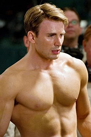Chris Evans 24X36 Poster Barechested Beefcake Photo at Amazon's ...
